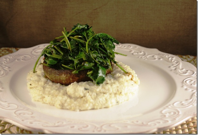 Creamy Polenta with Roasted Portabellas